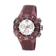 300350610 Reloj Xtous de acero morado con correa de silicona morada 525€