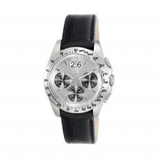 400350955 Reloj Drive Crono de acero con correa de piel negra 295€