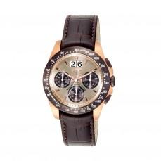 400350970 Reloj Drive Crono de acero bicolor IP rosado/chocolate con correa de piel marrón 325€