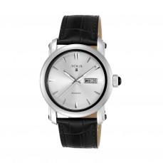 400350975 Reloj Born de bicolor acero/IP negro con correa de piel negra 525€