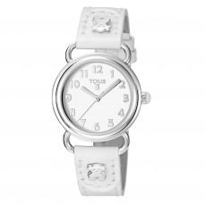 500350175 Reloj Baby Bear de acero con correa de piel blanca Reloj Baby Bear de acero con correa de piel blanca 89€