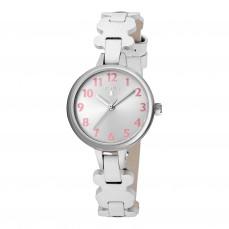 600350065 Reloj New Cruise de piel Reloj New Cruise de acero con correa de piel blanca 89€
