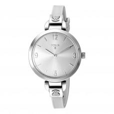 600350085 Reloj Bohème de acero con correa de silicona blanca 139€