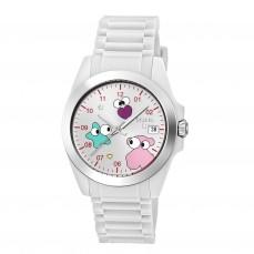 600350225 Reloj Drive Fun Faces de silicona blanca Reloj Drive Fun Face de acero con correa de silicona blanca 119€
